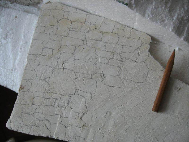 disegno pietre su cartongesso