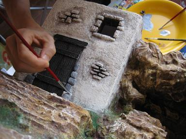 Creare acqua nel presepe - Videocorsi per diorami e presepi