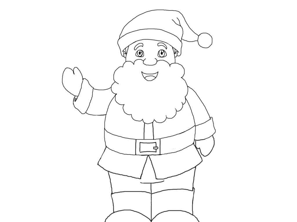 Immagini Babbo Natale Da Colorare.Disegni Di Natale Da Colorare Presepeforum It