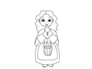 Donna col secchio