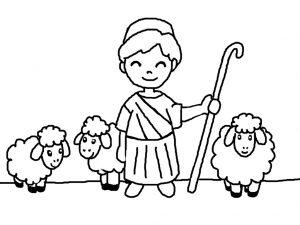 Pastore presepe da colorare