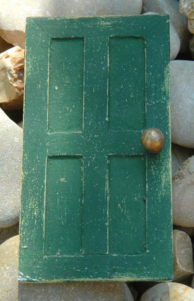 porta presepe verde